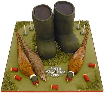 Phesant Shooting Birthday Cake