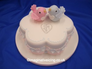 Love Birds Engagement Cake