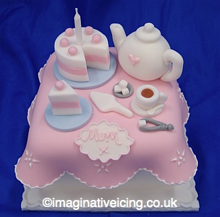 Tea Time Gift Cake -  Birthday Cake / Thankyou / Mothers Day