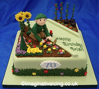 Gardener birthday cake imaginative icing cakes for Gardening 80th birthday cake