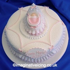 Frills and Filigree Christening Cake