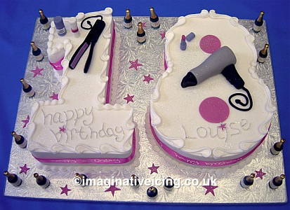 Birthday Cake Designs on Number 18 Birthday Cake   Imaginative Icing