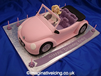 Cars Birthday Cake on Birthday Girls    Pink Car Cake   Imaginative Icing