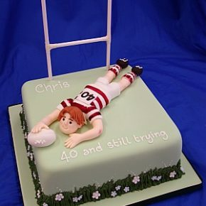 Rugby Player 40th Birthday Cake