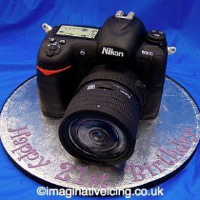 SLR Camera Birthday Cake