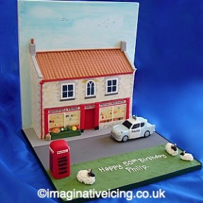 3d English Village Store - Birthday Cake