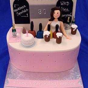 Bar Girl Birthday Cake