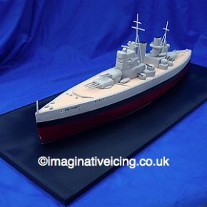 King George V Battleship WWII Birthday Cake
