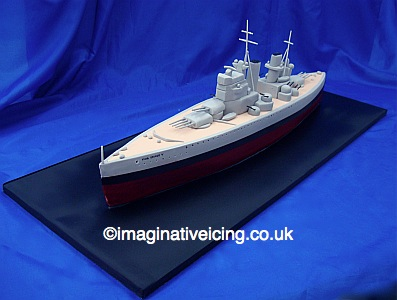 King George V Battleship WWII Birthday Cake