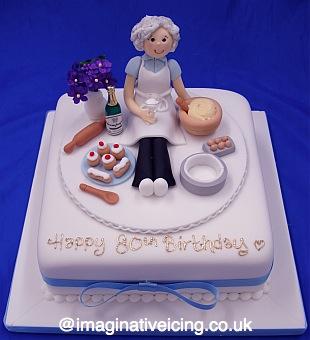Granny Baker Birthday Cake Imaginative Icing Cakes