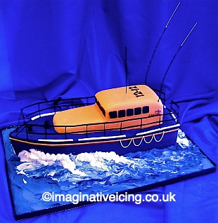 RNLI Lifeboat Birthday Cake 3D Mersey Class