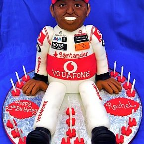 3D Motor Racing Driver Birthday Cake