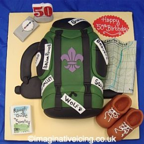 Scouts Backpack Birthday Cake