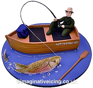 Freshwater Fishing Fisherman Birthday Cake Imaginative