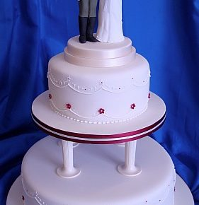 Military Uniform Topper Wedding Cake