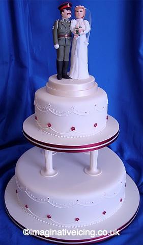 Military Uniform Topper Wedding Cake
