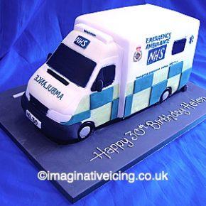 3D NHS Ambulance Cake