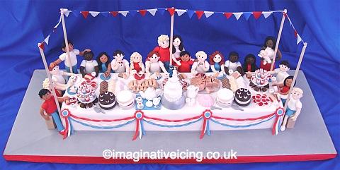 Royal Wedding Street Party Cake