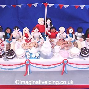 Royal Wedding Street Party Cake