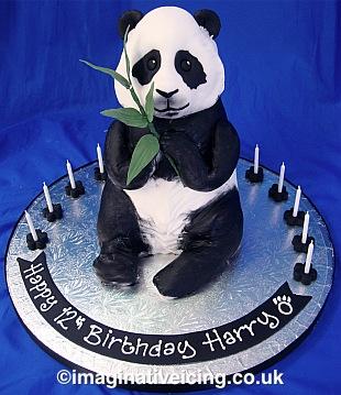 3d Panda Birthday Cake Imaginative Icing Cakes