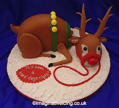 Rudolf the Reindeer 3D Christmas Cake