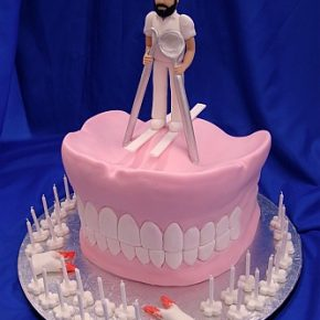 Dentist False Teeth Birthday Cake