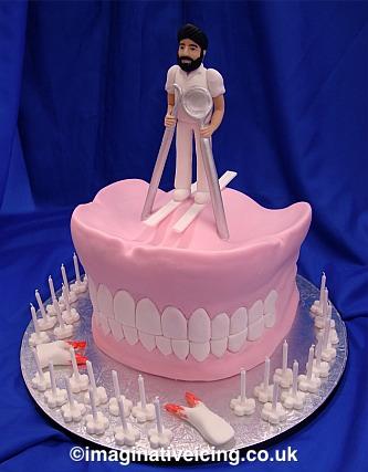 Dentist False Teeth Birthday Cake Imaginative Icing