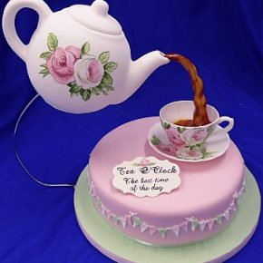 Icing Teapot & Icing Tea Cup & Saucer Cake