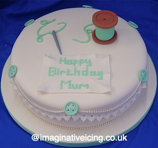 Sewing Amp Cross Stitch Cake Imaginative Icing Cakes