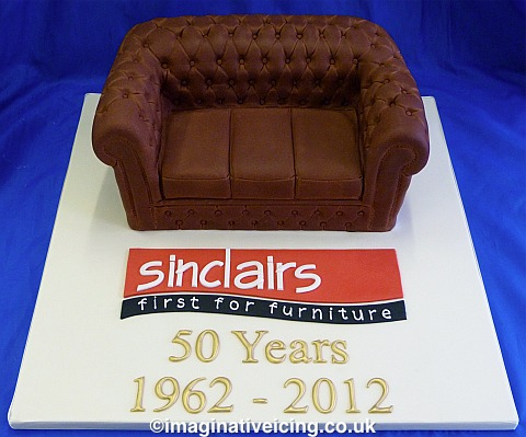 Chesterfield Sofa - Sinclairs - First for Furniture - 50th Anniversary Cake