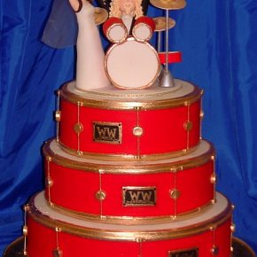 Drum Kit Wedding Cake