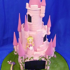 Fairytale Princess Castle Cake with Dragon