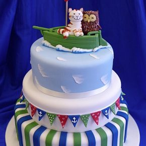 The Owl and the Pussy Cat Wedding Cake