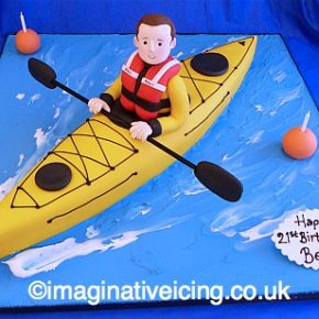Sea Kayak Birthday Cake