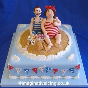 """We do Like to be beside the Seaside"" cake"