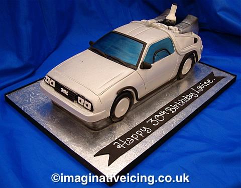 Delorean - Back to the Future - Birthday cake