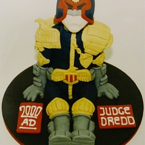 3D Judge Dredd Birthday Cake