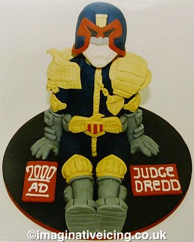 judge Dredd 2000ad 3d birthday cake