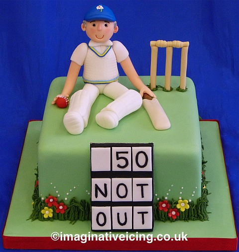 Cake Decorating Cricket Figures : Yorkshire Cricket Player Birthday Cake Imaginative Icing ...