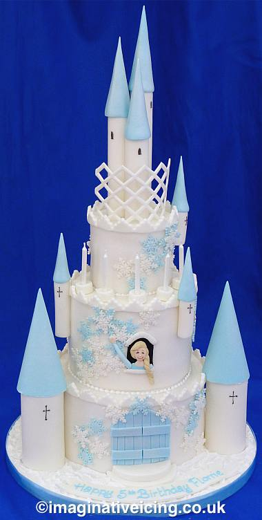 Fairytale Castle Cake with Snowflakes & Ice Turrets | Imaginative Icing - Cakes - Scarborough ...