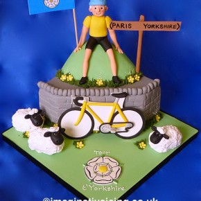 Tour t'Yorkshire - Bicycle Birthday cake