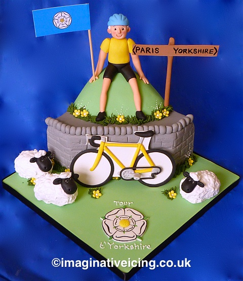 Yorkshire Cyclist doing a tour t'yorkshire - Birthday Cake
