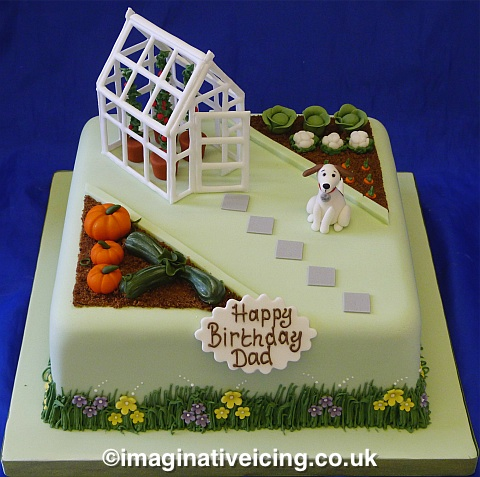 Cake Decorating Gardeners Road : Dads  Prize Winning Pumpkins   Vegetable Garden birthday ...