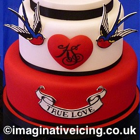 Beard & Tattoos Wedding Cake