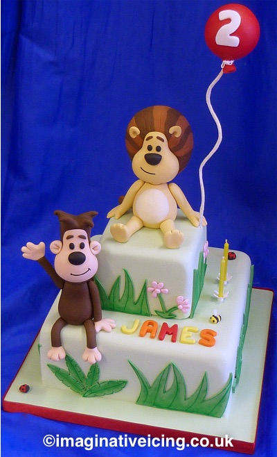 Raa Raa the noisy lion & Ooo Ooo birthday cake