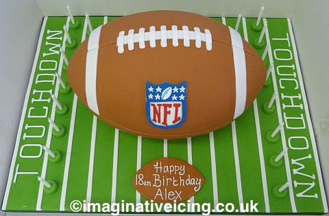 American Football Birthday Cake Imaginative Icing