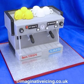 Coffee Machine Birthday Cake