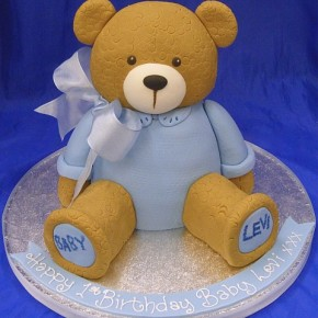 1st Birthday Teddy Bear Cake
