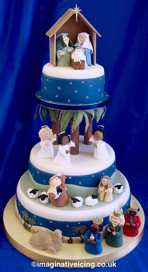 Christmas Nativity Christmas Cake