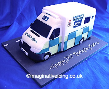 3d Nhs Ambulance Cake Imaginative Icing Cakes